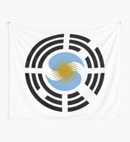 Korea Argentinian Multinational Patriot Flag Series Wall Tapestry