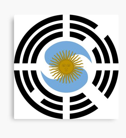 Korea Argentinian Multinational Patriot Flag Series Canvas Print