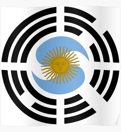 Korea Argentinian Multinational Patriot Flag Series Poster