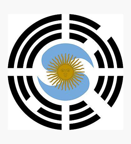 Korea Argentinian Multinational Patriot Flag Series Photographic Print