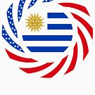Uruguayan American Multinational Patriot Flag Series by Carbon-Fibre Media