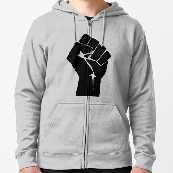 Raised Clenched Fist Zipped Hoodie