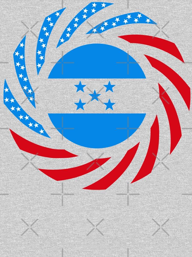 Honduran American Multinational Patriot Flag Series by carbonfibreme