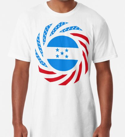 Honduran American Multinational Patriot Flag Series Long T-Shirt