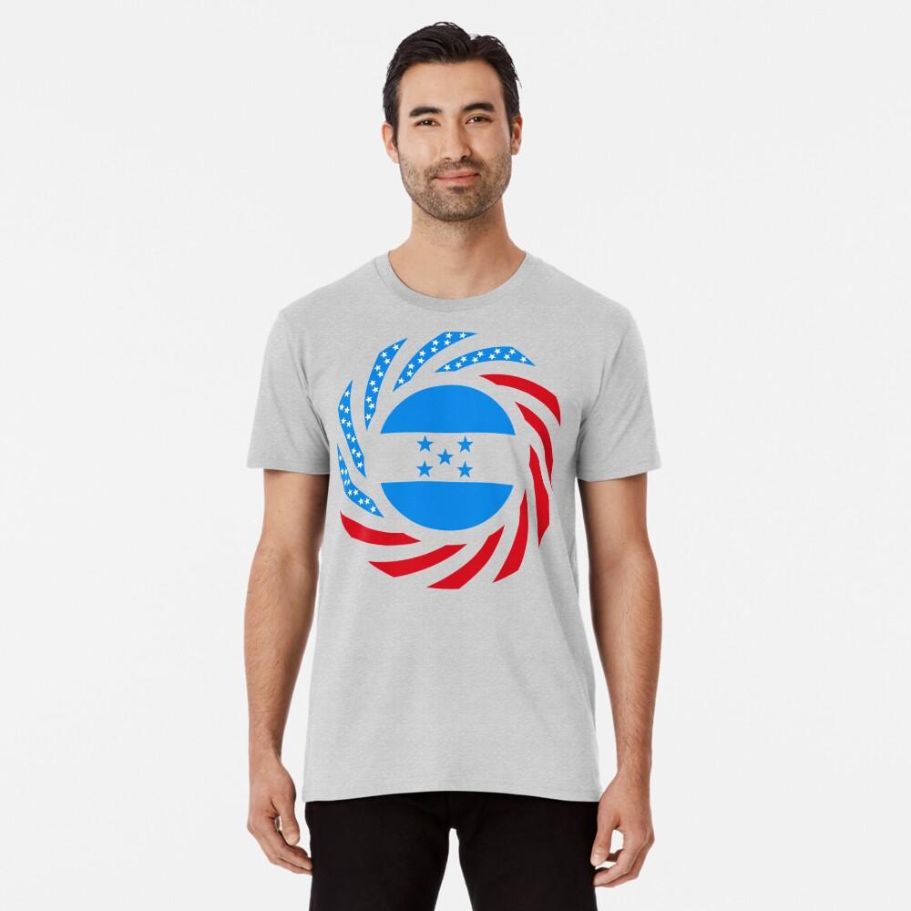 Honduran American Multinational Patriot Flag Series Premium T-Shirt