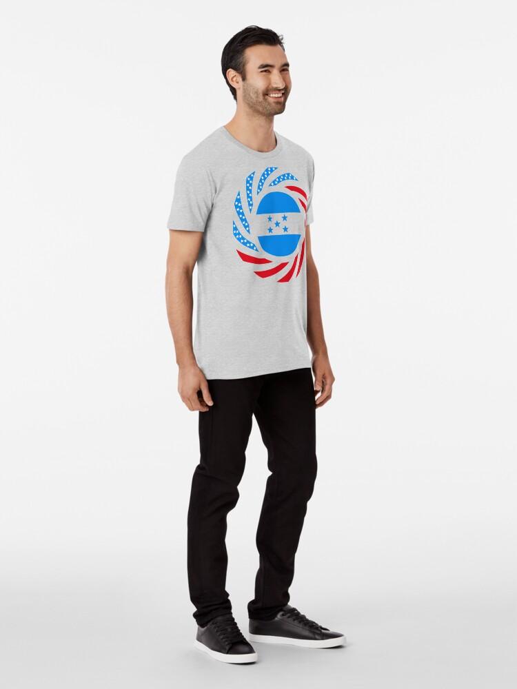 Alternate view of Honduran American Multinational Patriot Flag Series Premium T-Shirt