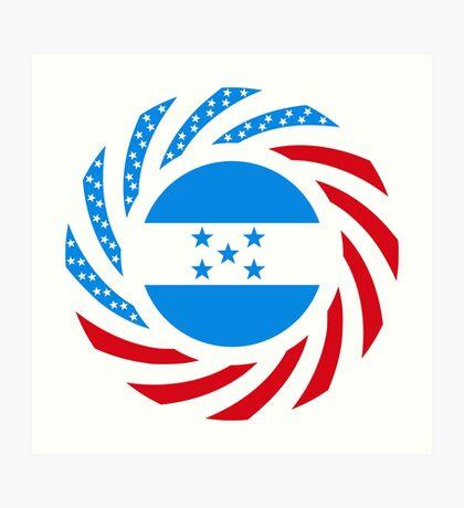 Honduran American Multinational Patriot Flag Series Art Print