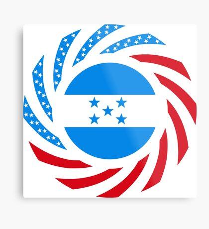 Honduran American Multinational Patriot Flag Series Metal Print