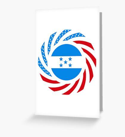 Honduran American Multinational Patriot Flag Series Greeting Card