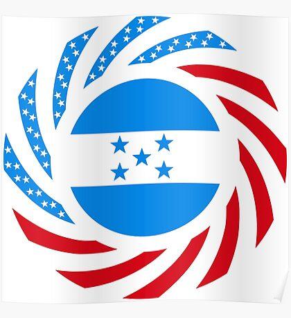 Honduran American Multinational Patriot Flag Series Poster