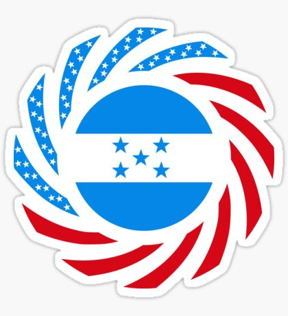 Honduran American Multinational Patriot Flag Series Sticker
