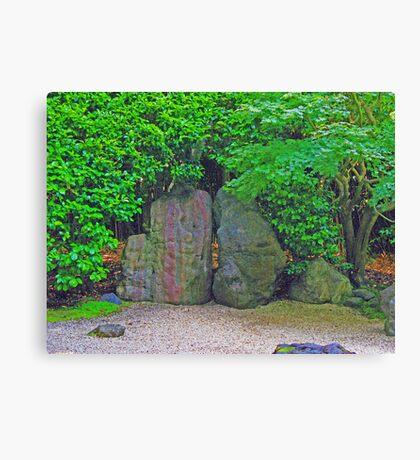 Rock Garden photo painting Canvas Print