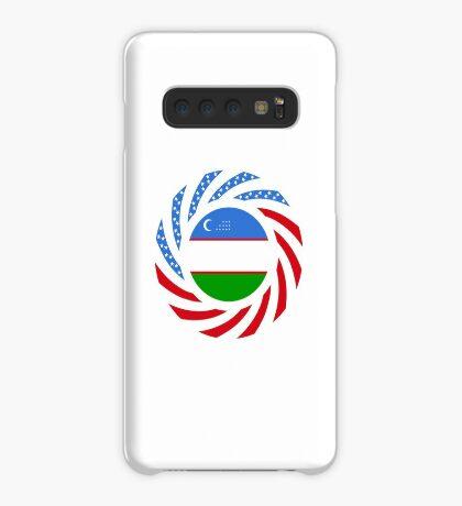 Uzbekistani American Multinational Patriot Flag Series Case/Skin for Samsung Galaxy