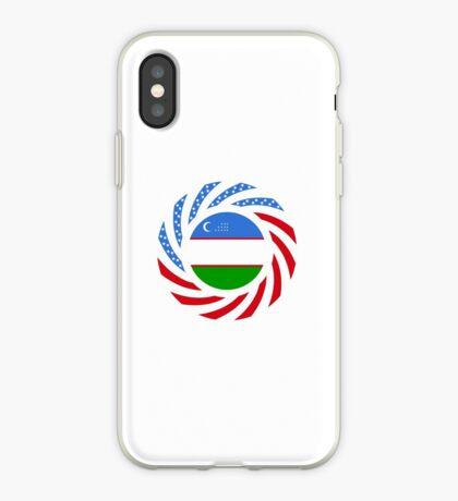 Uzbekistani American Multinational Patriot Flag Series iPhone Case