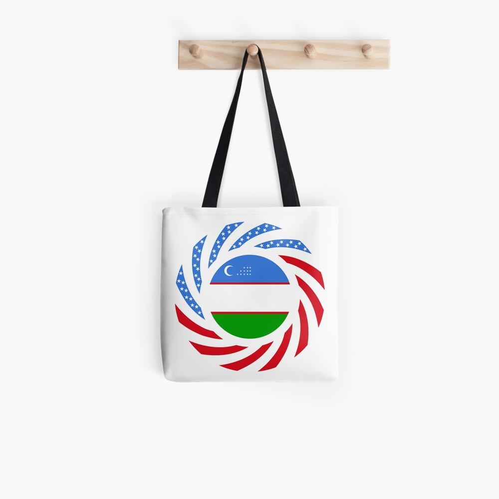 Uzbekistani American Multinational Patriot Flag Series Tote Bag
