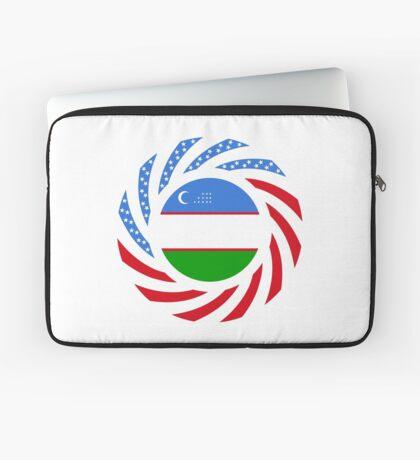 Uzbekistani American Multinational Patriot Flag Series Laptop Sleeve