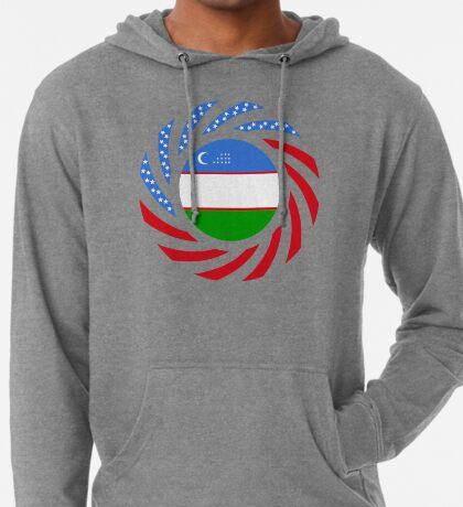 Uzbekistani American Multinational Patriot Flag Series Lightweight Hoodie