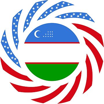 Uzbekistani American Multinational Patriot Flag Series by carbonfibreme