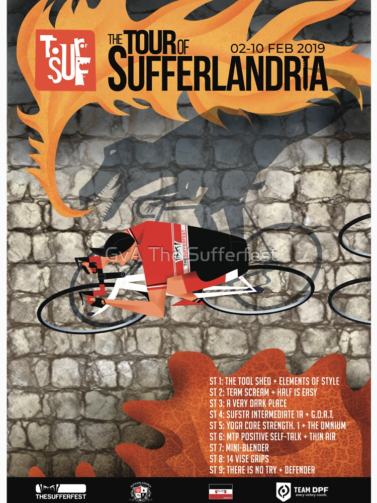 Tour of Sufferlandria 2019 Poster - Male Rider by bvduck