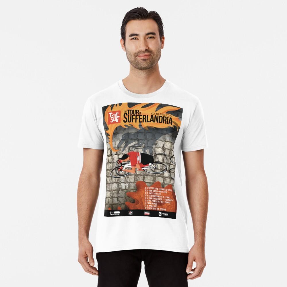Tour of Sufferlandria 2019 Poster - Male Rider Premium T-Shirt