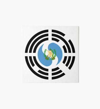 Korean Guatemalan Multinational Patriot Flag Series Art Board Print