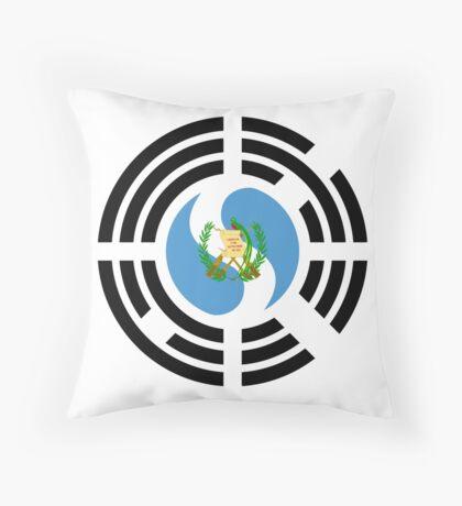 Korean Guatemalan Multinational Patriot Flag Series Floor Pillow