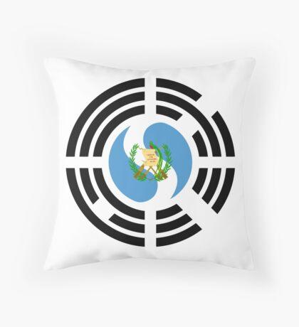 Korean Guatemalan Multinational Patriot Flag Series Throw Pillow