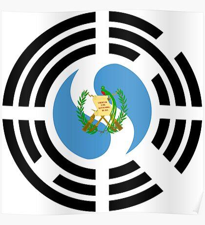 Korean Guatemalan Multinational Patriot Flag Series Poster