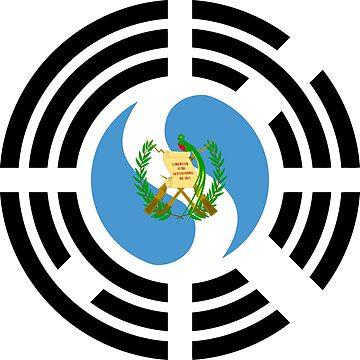Korean Guatemalan Multinational Patriot Flag Series by carbonfibreme