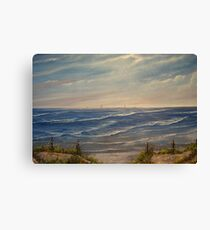 """""""Fanore Beach - County Clare"""" - oil painting Canvas Print"""