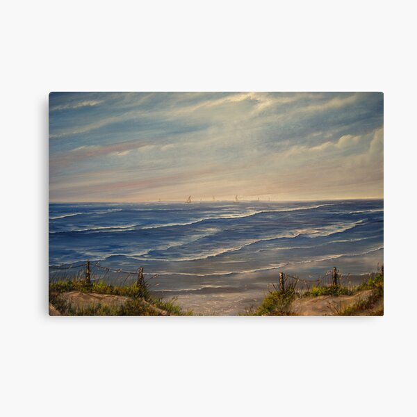 """Fanore Beach - County Clare"" - oil painting Canvas Print"