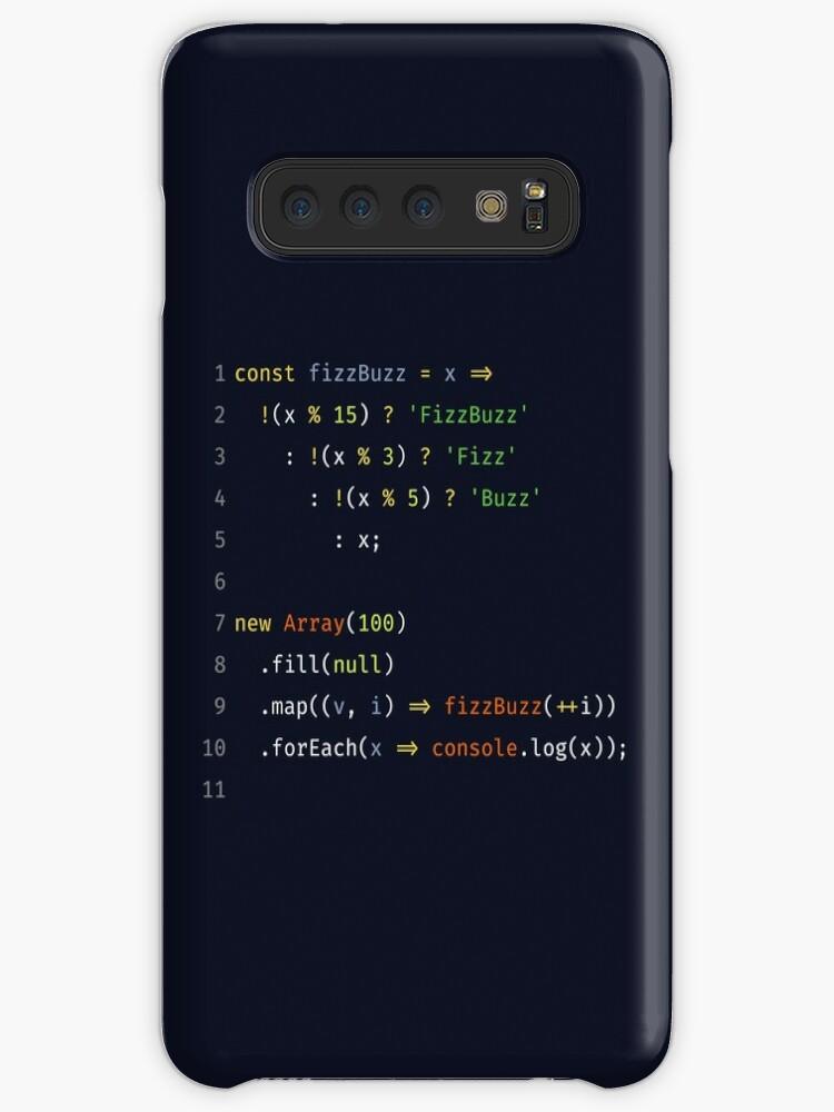 'FizzBuzz in JavaScript ES6' Case/Skin for Samsung Galaxy by kurideja
