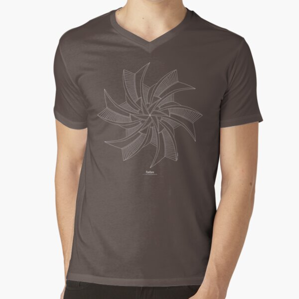 Fanfare [white design] V-Neck T-Shirt