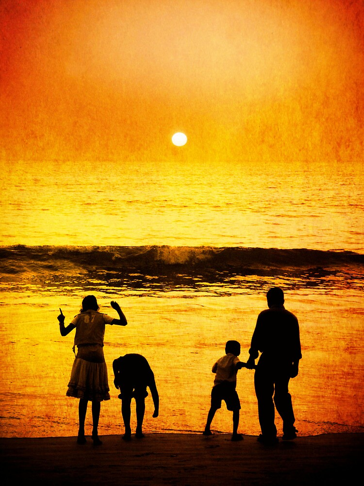 Goa Family Sunset by liamcarroll