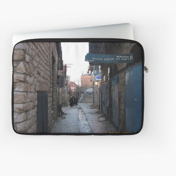 #architecture, #outdoors, #street, #travel, #city, #town, #narrow, #alley Laptop Sleeve