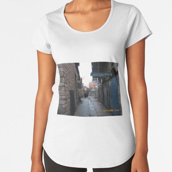 #architecture, #outdoors, #street, #travel, #city, #town, #narrow, #alley Premium Scoop T-Shirt