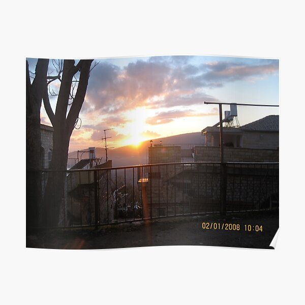 #town, #morning, #house, #sunlight, #tree, #sunset, #outdoors, #architecture Poster