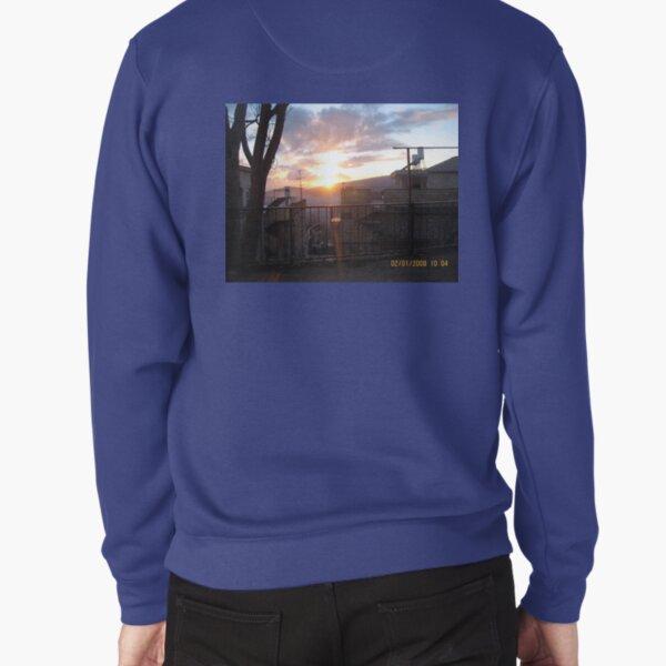#town, #morning, #house, #sunlight, #tree, #sunset, #outdoors, #architecture Pullover Sweatshirt