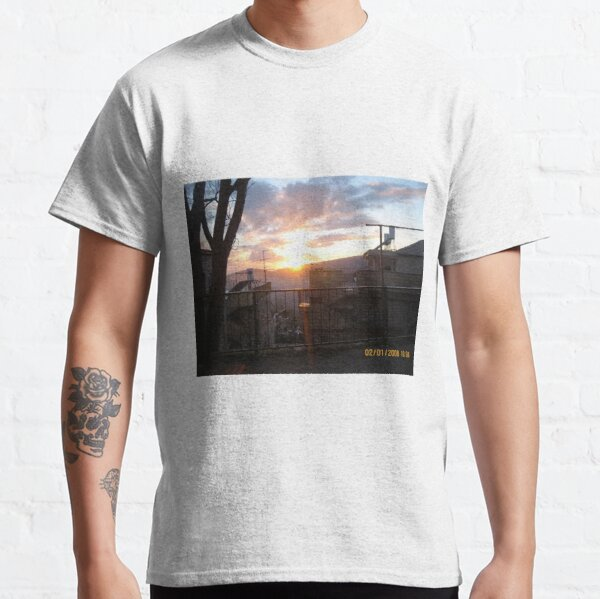 #town, #morning, #house, #sunlight, #tree, #sunset, #outdoors, #architecture Classic T-Shirt
