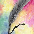 Frustration Feather Quill by Linda Ursin