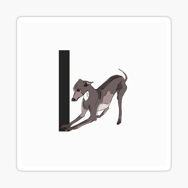 I is for Italian Greyhound Dog Sticker