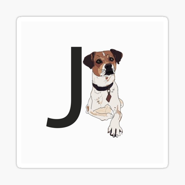 J is for Jack Russell Terrier Dog Sticker