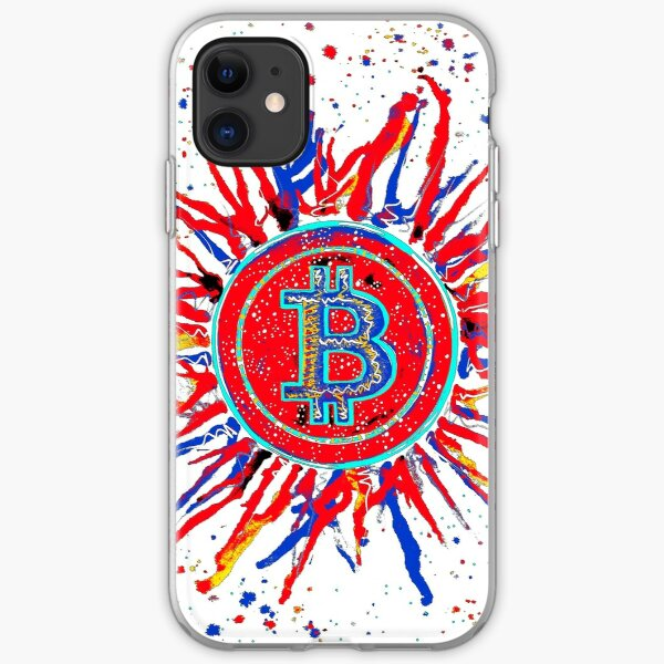 'Bitcoin Explosion' in red.  iPhone Soft Case