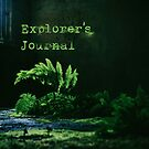 Ferns with text Explorer's Journal by Lenka Vorackova