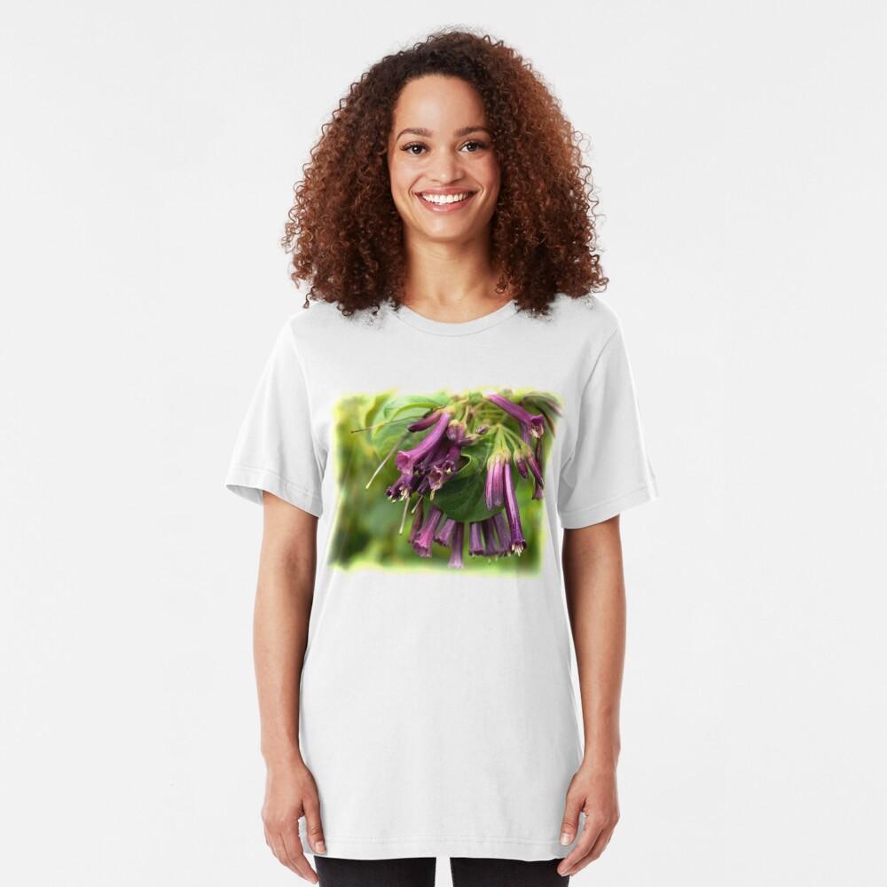 Purple Iochroma Flowers Slim Fit T-Shirt