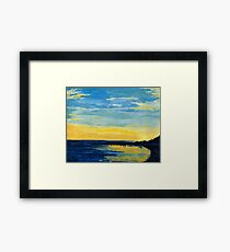 sunset beach in okinawa Framed Print