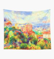 Renoir View from Montmartre Wall Tapestry