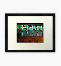 Windows & Pews   ^ Framed Print