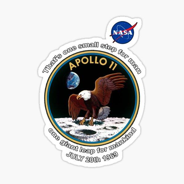 NASA & Apollo 11 Patch One Small Step Moon Landing Sticker