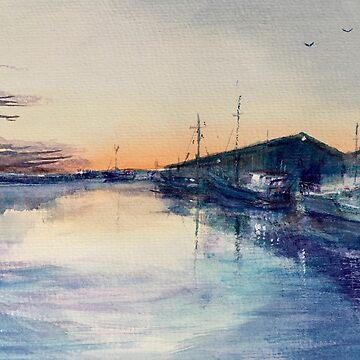 Fishing boats Stanley By Ian Shiel  by Ruckrova